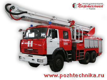 пожарная автолестница КАМАЗ АЦПК-2,0-40/100-24
