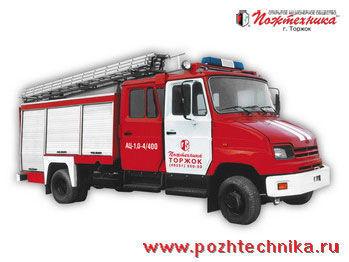 пожарная машина ЗИЛ АЦ-1,0-4/400