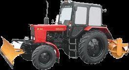 снегоуборочная машина МТЗ 82 МК (отвал+щетка)