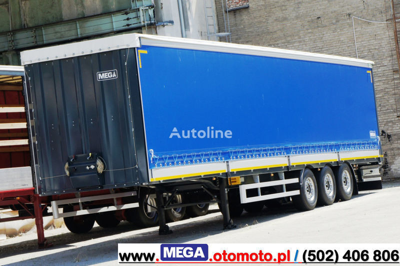новый полуприцеп штора MEGA 3 AXEL CURTAINSIDER / ALUSIDES H=600 MM/ READY !