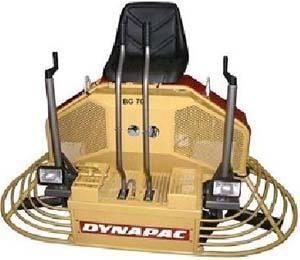 новая затирочная машина DYNAPAC BG70