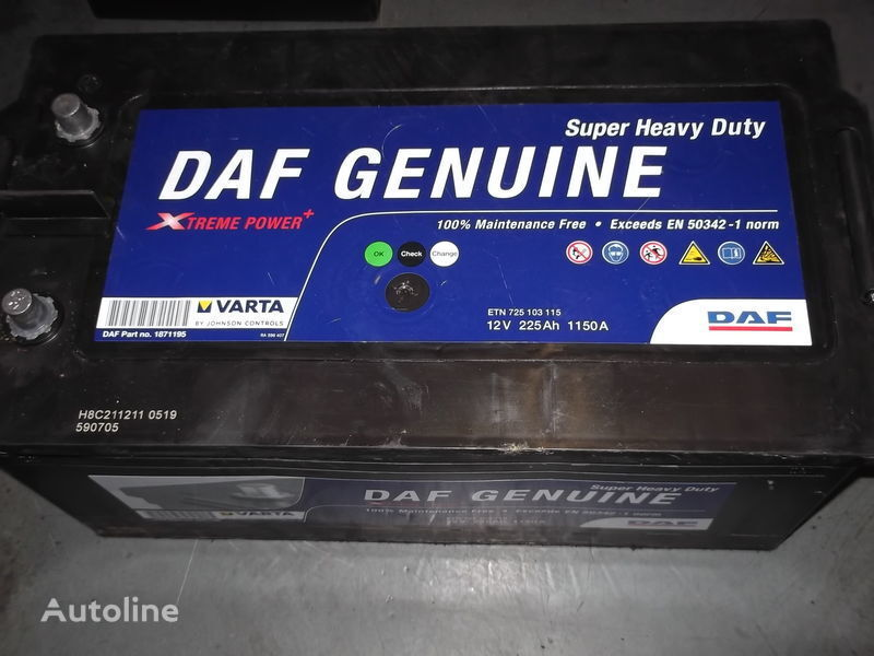 новый аккумулятор  225Ah DAF XF 105  CF 85 для автобуса