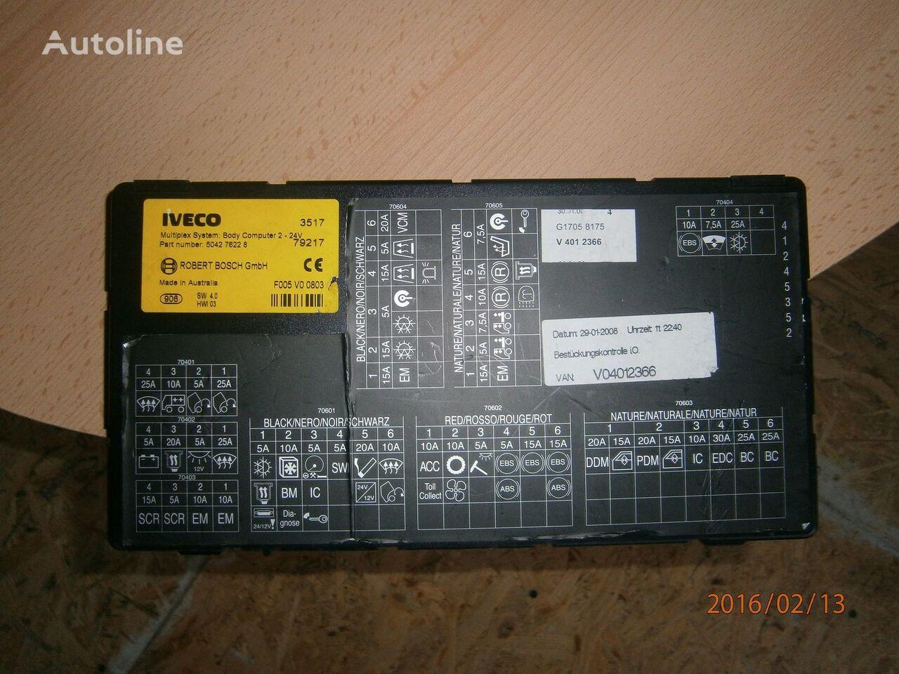 блок управления  Iveco Stralis EURO5 Multiplex system body computer 504276228 для тягача IVECO Stralis