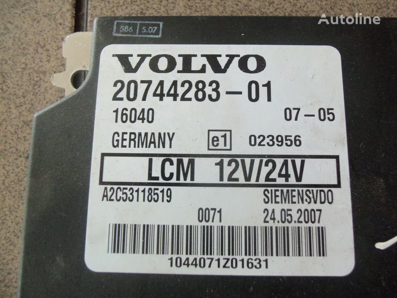 блок управления  VOLVO FH12, LCM control unit, lightning 20744283, 20514900, 85108922, 20744286, 20865208, 85115541, 20815236, 85110015 для тягача VOLVO FH12