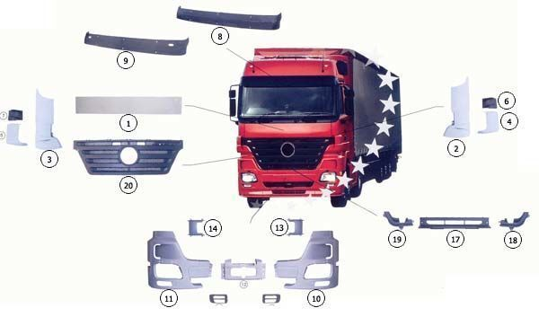 новый капот  9437500518 для грузовика MERCEDES-BENZ ACTROS MP2