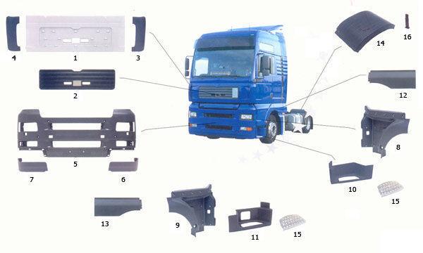 новая подножка  81615100399. 81615100401,81615100400 для грузовика MAN TGA