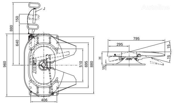 седельное устройство  Jost 115 185мм для тягача