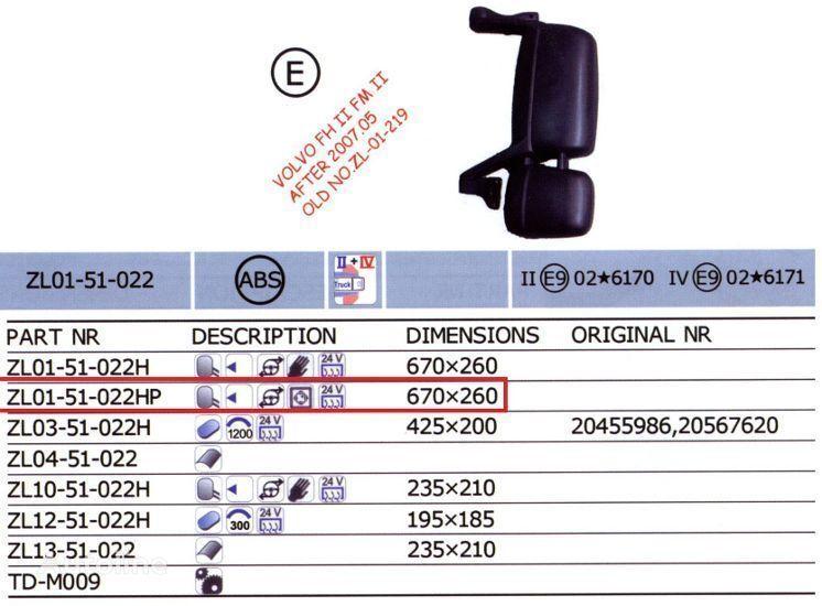 новое зеркало  20567637,20567647 для грузовика VOLVO FH