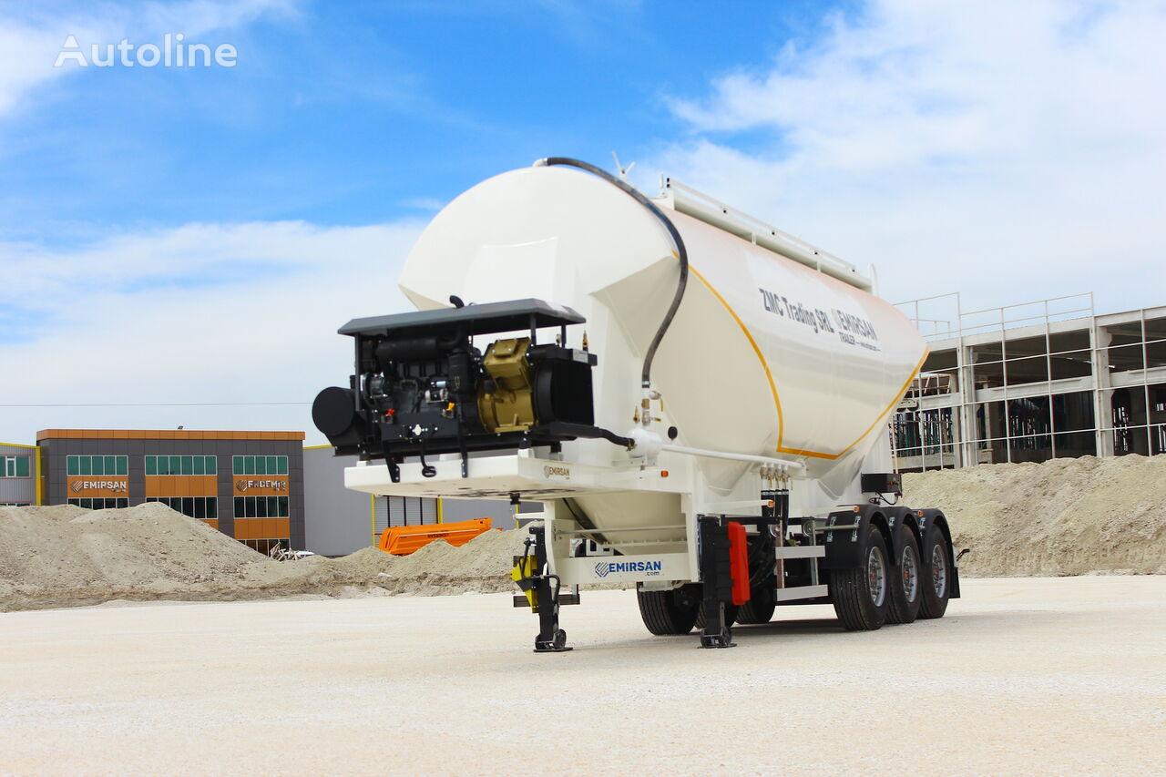 новый цементовоз EMIRSAN W Type Cement Tanker Trailer from Factory