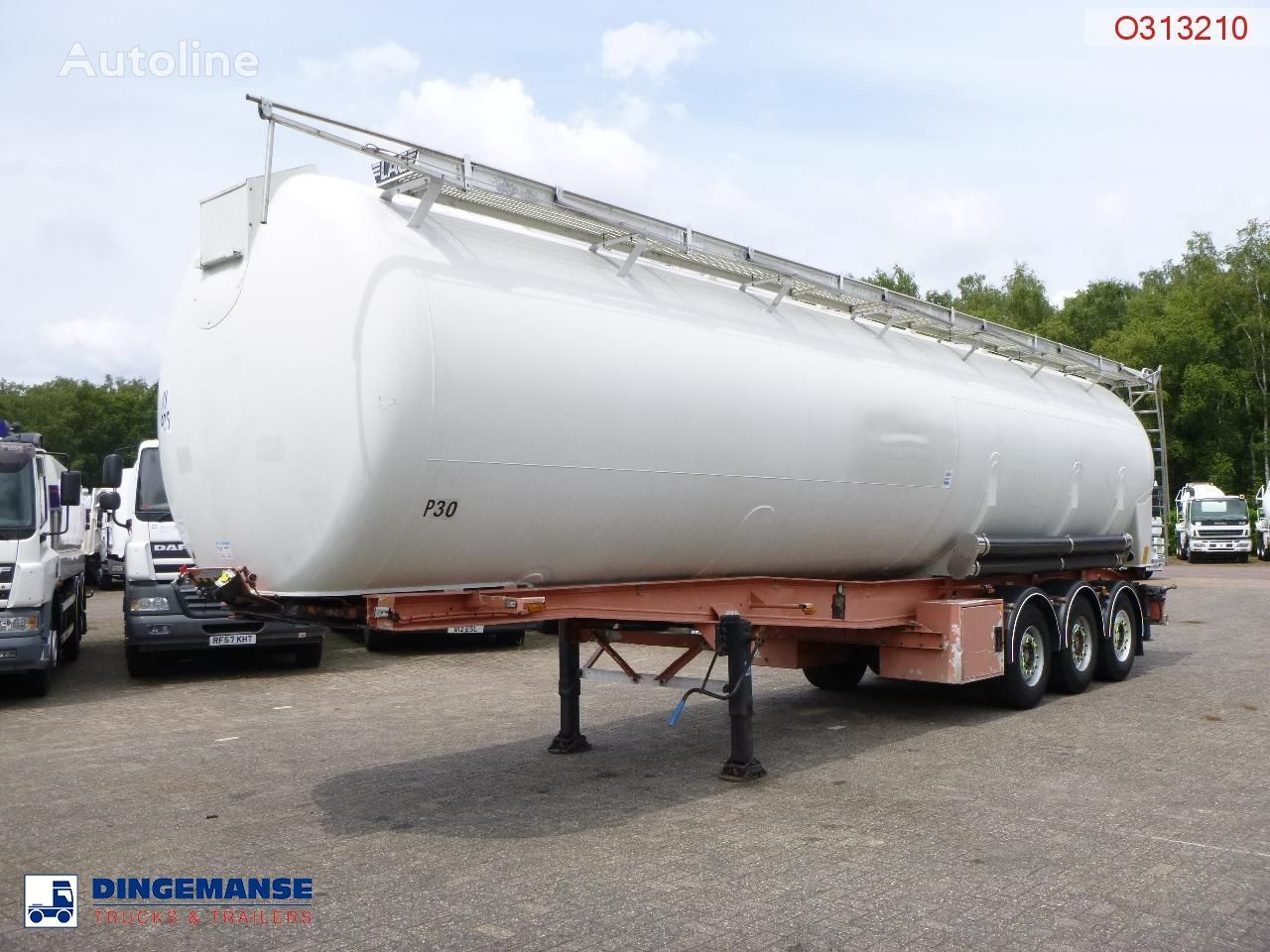 цистерна силос LAG Powder tank alu 60.5 m3 (tipping)