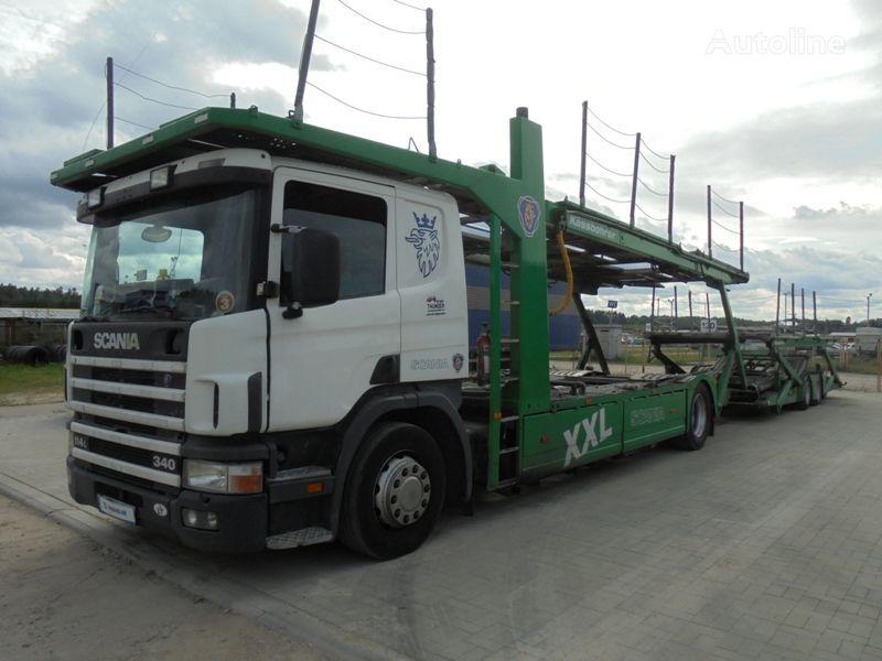 автовоз SCANIA P 114 LB + прицеп автовоз