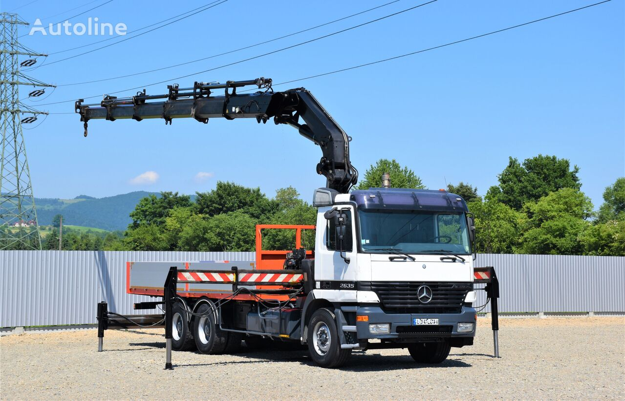 бортовой грузовик MERCEDES-BENZ ACTROS 2635 Pritsche 6,40m + HIAB 400 E-5 + FUNK / 6x4