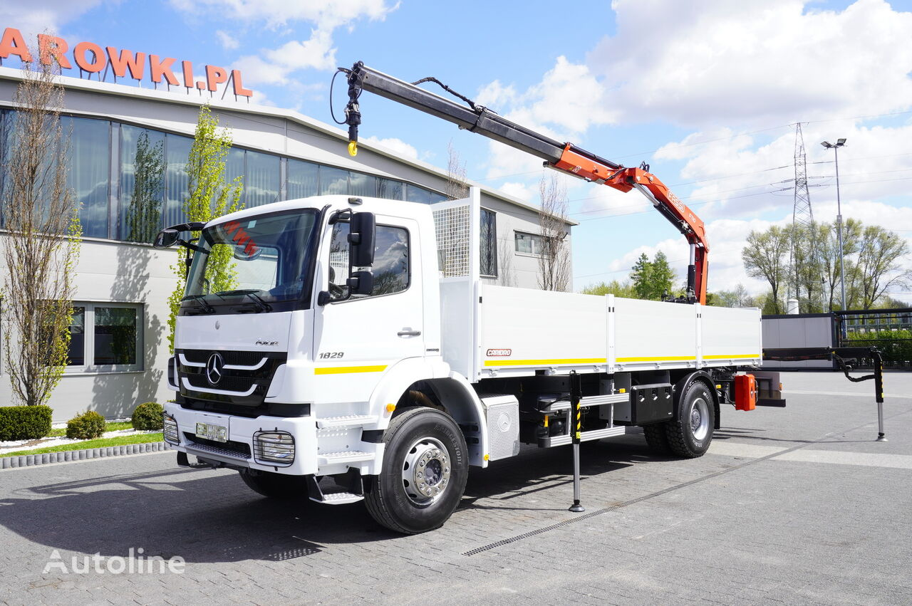 бортовой грузовик MERCEDES-BENZ Axor 1829 , E5 , 150k km , box 7m , FASSI 7,9m , REMOTE , rotato