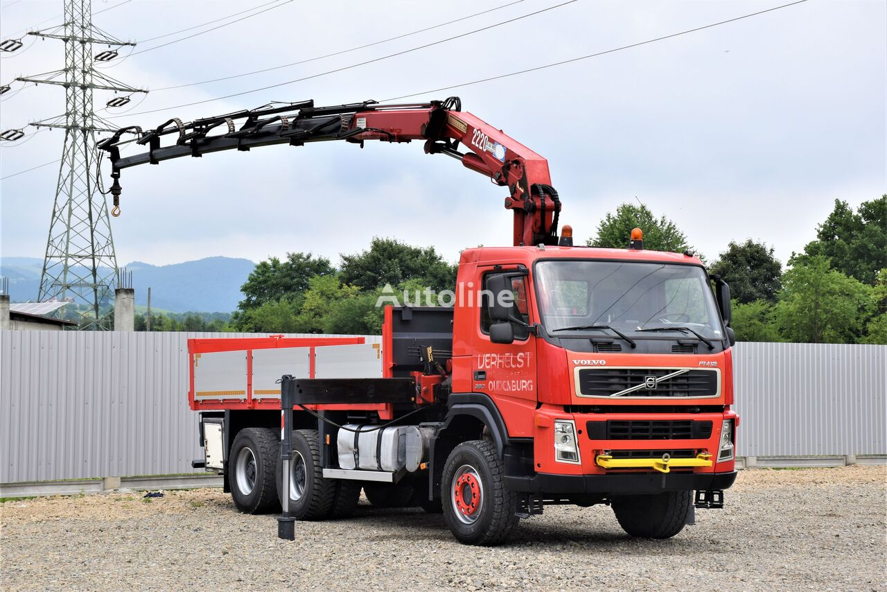 бортовой грузовик VOLVO FM 12 380 Pritsche 5,20m + HMF 2223 K5+FUNK/6x6