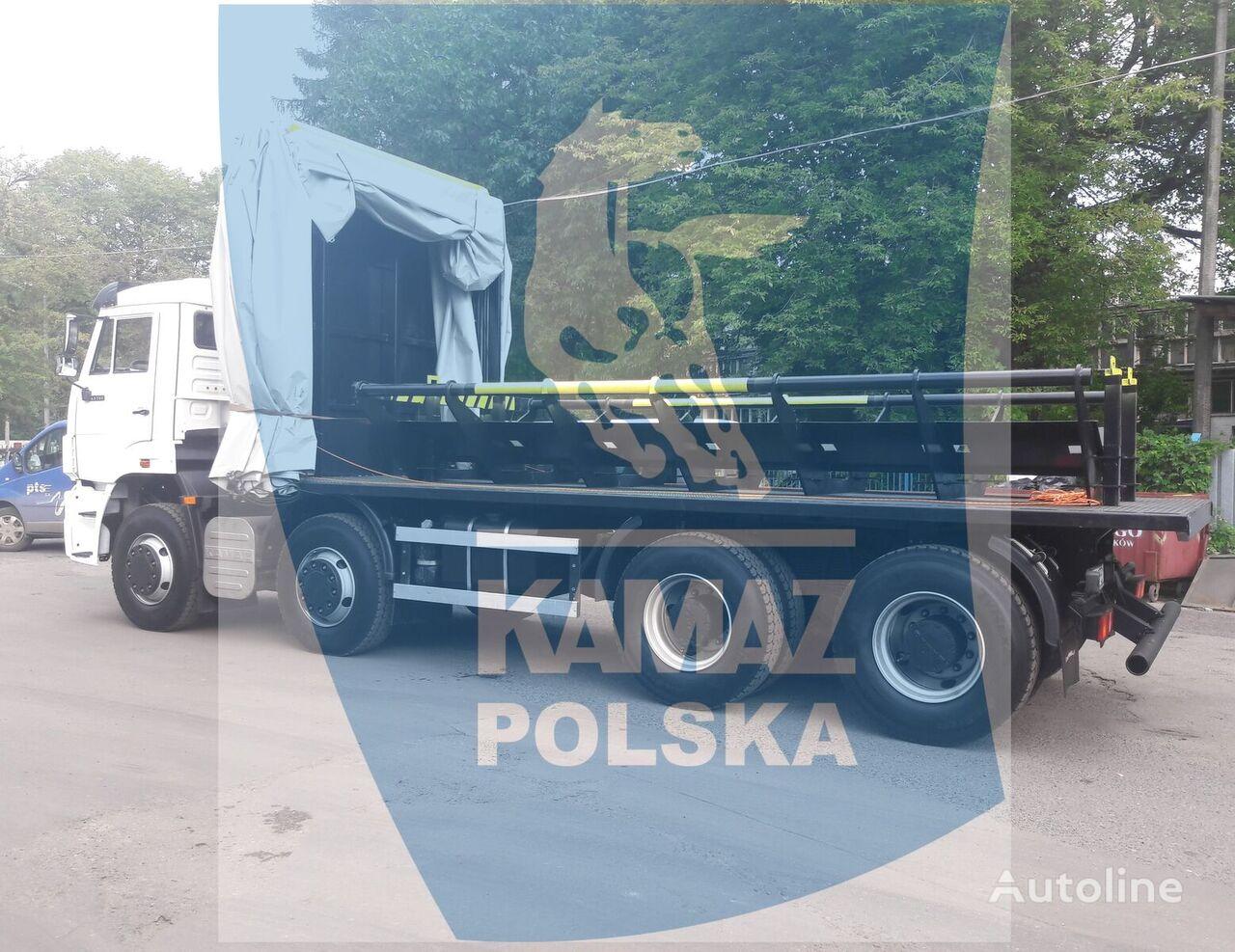 новый грузовик платформа КАМАЗ 8x4 do transportu kręgów stalowych