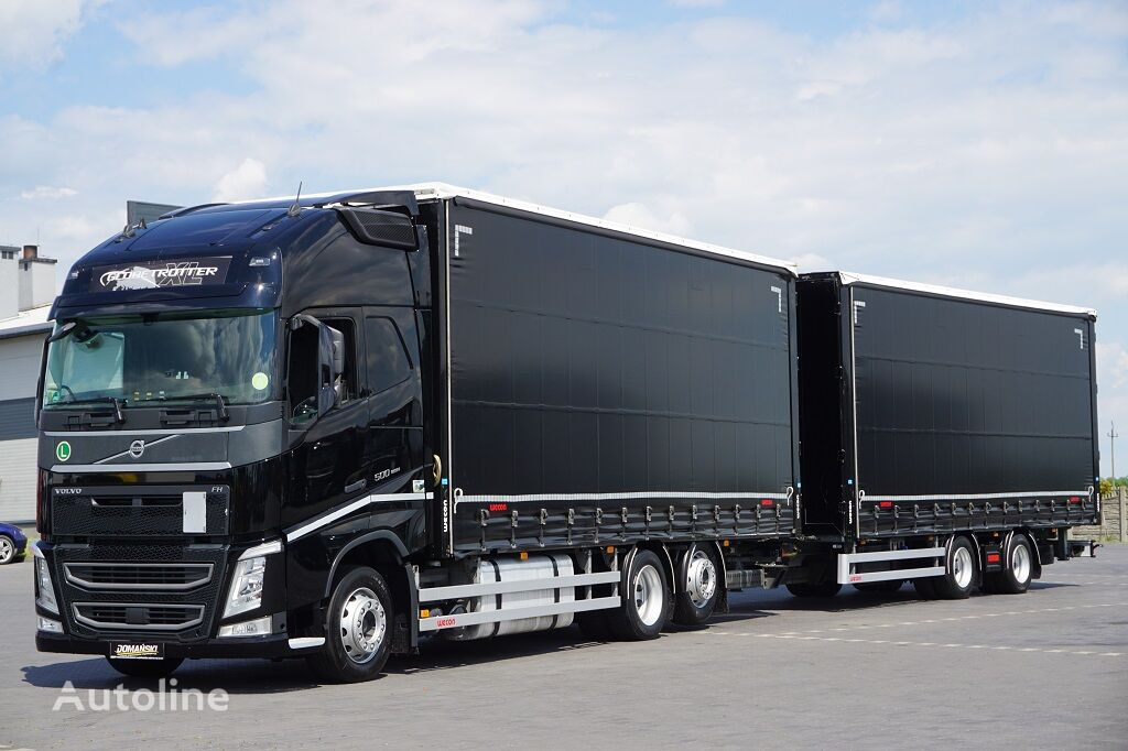 грузовик штора VOLVO / FH / 500 / XXL / ACC / EURO 6 / ZESTAW PRZEJAZDOWY 120 M3 + прицеп штора
