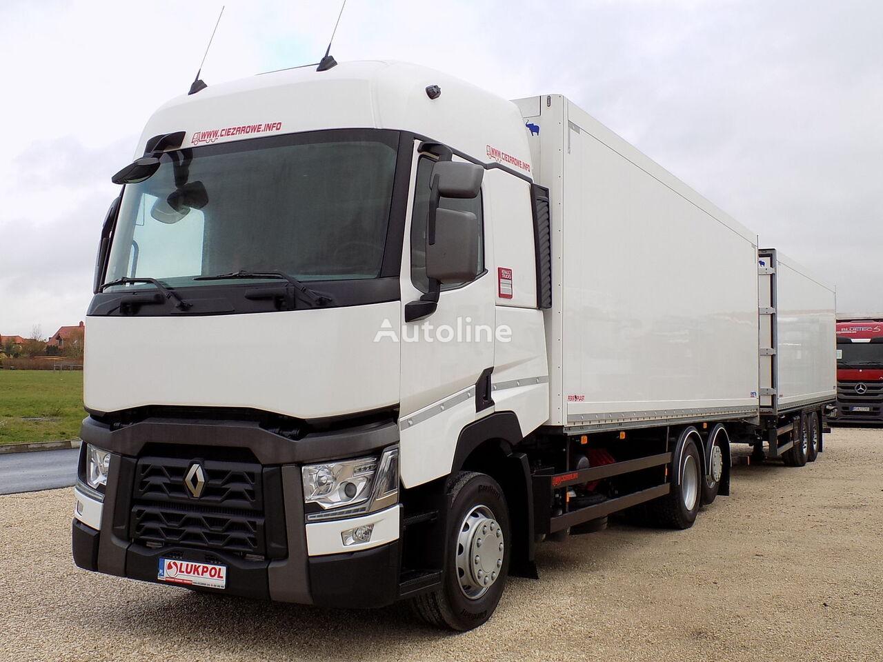 изотермический грузовик RENAULT T430 EURO 6 - ZESTAW TANDEM PRZEJAZDOWY - ALL NEW !! + изотермический прицеп