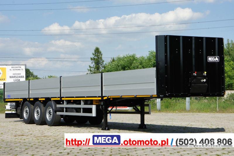 новый бортовой полуприцеп MEGA MNS 22,5 - PLATFORM & ALUSIDES 800 MM /  STRONG  FRAME DOMEX650