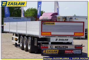 новый полуприцеп бортовой ZASŁAW 13,60 m platforma budowlan, burty alum, SUPER HARD - GOTOWA !!!