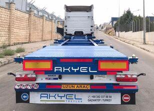 новый полуприцеп контейнеровоз AKYEL TREYLER hc Container semi trailer