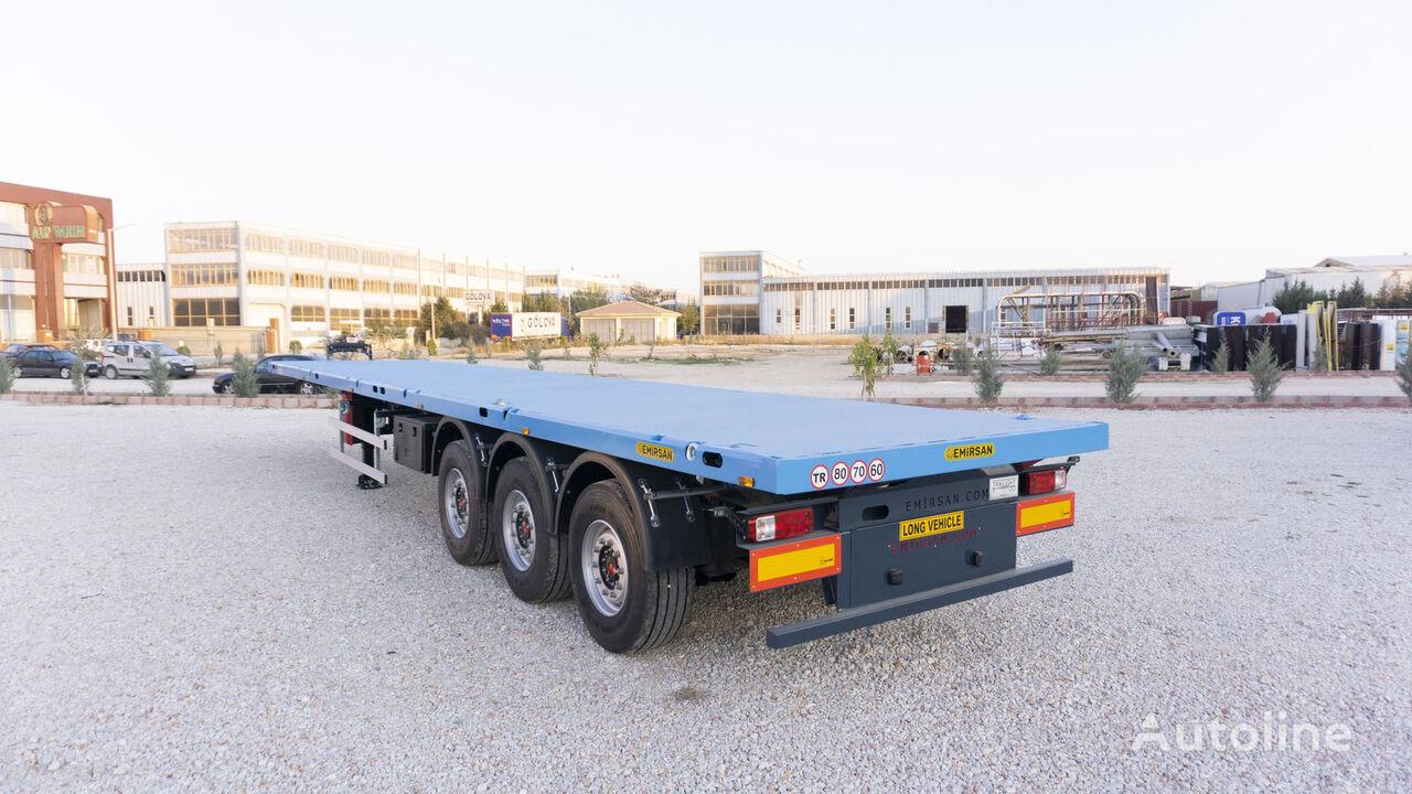новый полуприцеп контейнеровоз EMIRSAN 12 locks Flatbed Trailer | Container Carrier Semi Trailer 2021