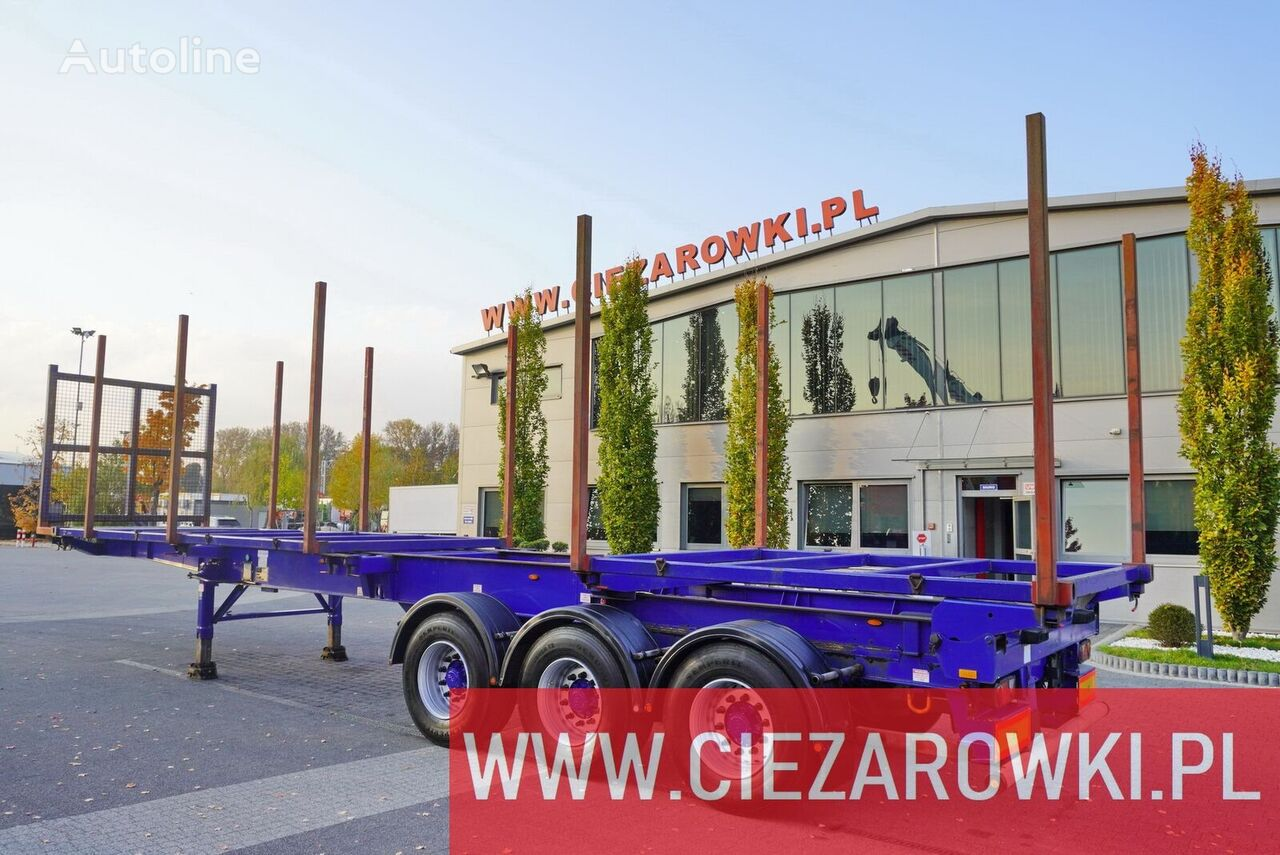 полуприцеп лесовоз DENNISON for wood , stretched , max 12,8m , 10x stachions , air suspensio