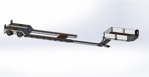 новый полуприцеп низкорамная платформа BODEX с передним заездом (раздвижной на 3.5 м)