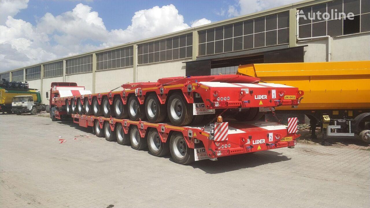 новый полуприцеп низкорамная платформа LIDER 2020 model 150 Tons caapcity Lowbed semi trailer