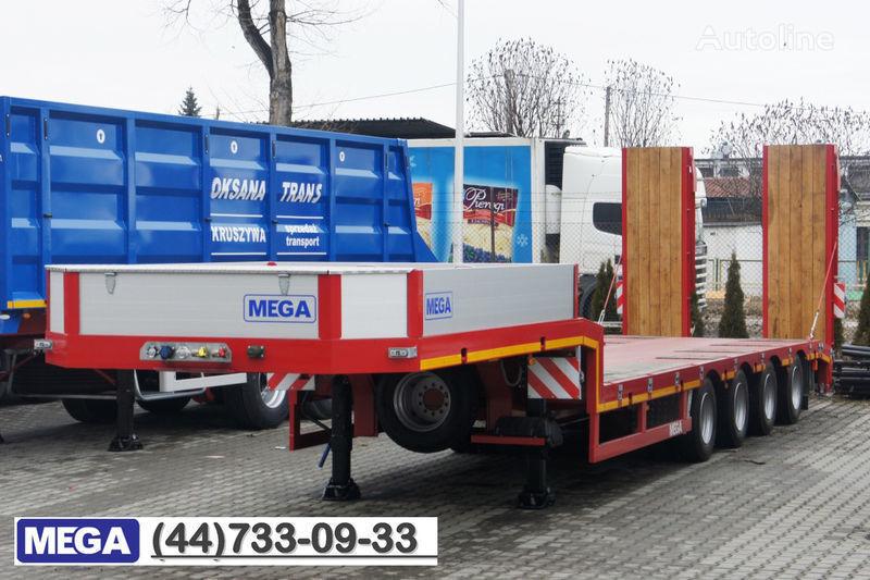 новый полуприцеп низкорамная платформа MEGA 4 AXEL FLATBED / HYDRAULIC RAMPS / UP TO 45 T!