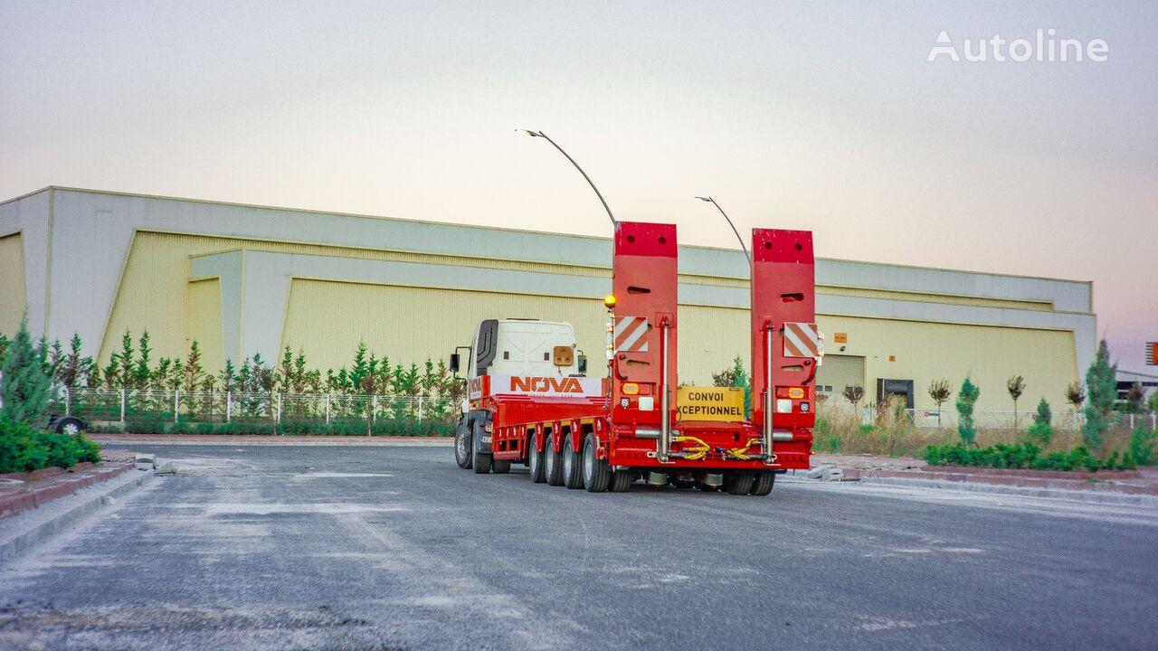 новый полуприцеп низкорамная платформа NOVA NEW 4 AXLE LOWBED SEMI TRAILER PRODUCTION low bed semi-trailer l