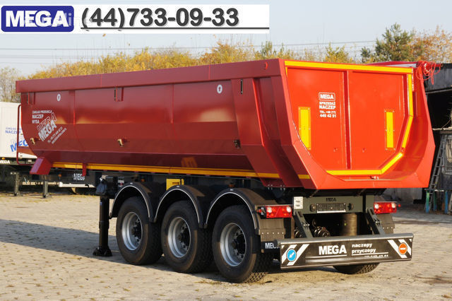новый полуприцеп самосвал KARGOMIL 25 - 28 m³ HALF-PIPE / steel tipper - DOMEX 5/7 mm / SUPER STRON