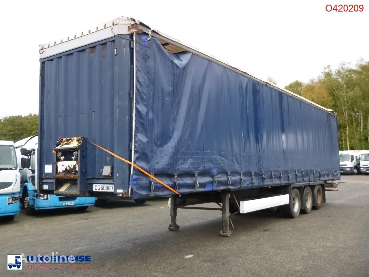 полуприцеп штора KRONE Curtain side trailer double stock 97 m3
