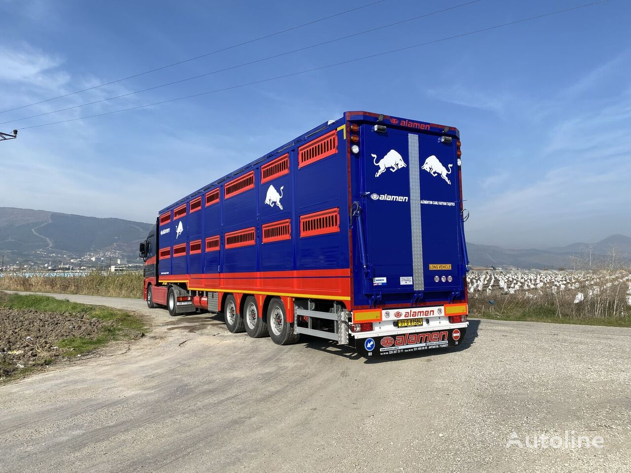 новый полуприцеп скотовоз ALAMEN livestock transport trailer
