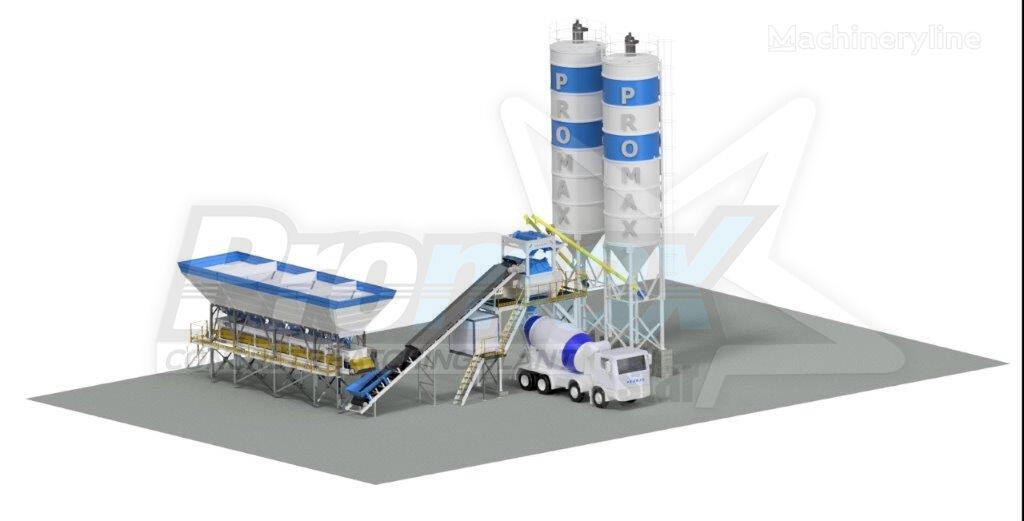 новый бетонный завод PROMAX Compact Concrete Batching Plant PROMAX C100-TWN L
