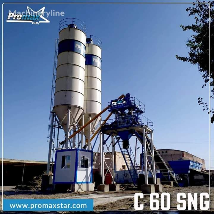 новый бетонный завод PROMAX Compact Concrete Batching Plant PROMAX C60-SNG-L (60m/h)