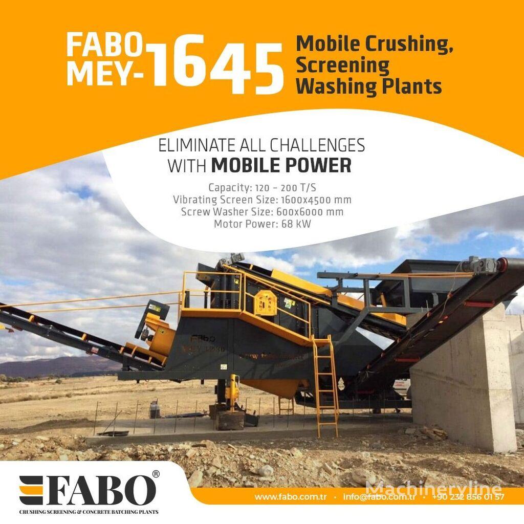 новая мобильная дробильная установка Fabo MEY 1230 TPH MOBILE SAND SCREENING & WASHING PLANT