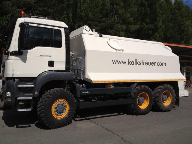 ресайклер MAN spreader for laim or cement TGS 33.440 - 6x6