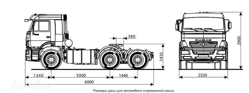 тягач КАМАЗ 6460 (6х4)