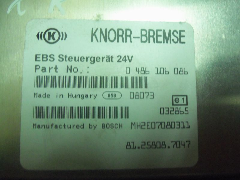 блок управления MAN TGA, , Electronic brake system EBS 81258087047, 81258087054, для тягача MAN TGX