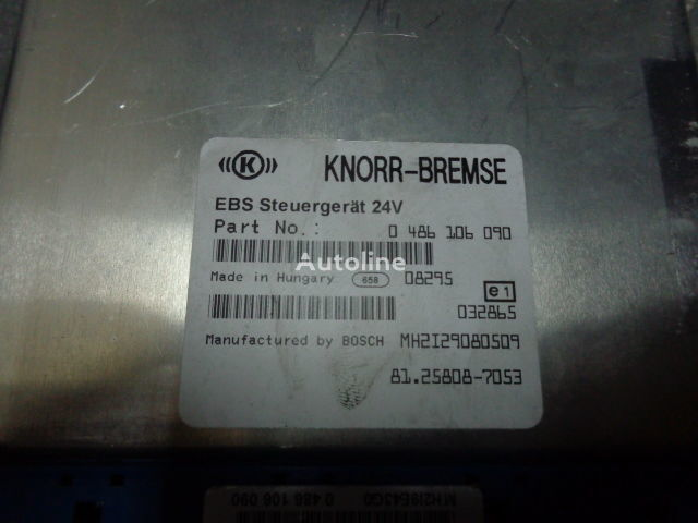 блок управления MAN electronic brake system EBS, ECU, 81258087053, KNORR-BREMSE 0486 для тягача MAN TGX