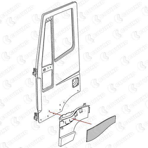 новая дверь для грузовика IVECO STRALIS