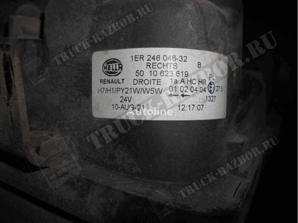 фара (5010623619) для тягача RENAULT