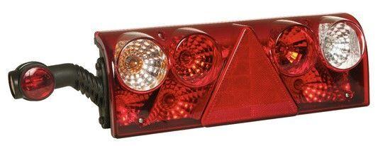 новый фонарь ЗАДНІЙ EUROPOINT II LH 7PIN З РОЖКОМ ASPOCK для прицепа