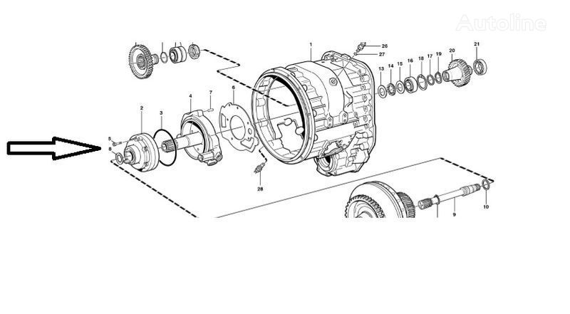 новая КПП VOLVO Помпа VOE11145264 для фронтального погрузчика VOLVO  L180E