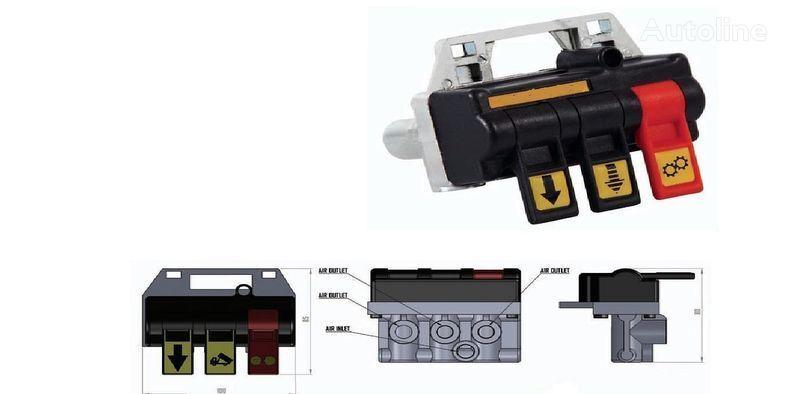 новый кран Переключатель пневматический для управления гидравликой ABER (По для грузовика DAF, Iveco, MAN, Mercedes-Benz, Volvo, Renault, Scania, Камаз, М