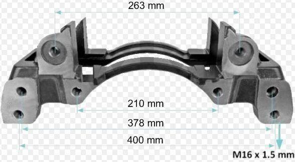 крепежные элементы SAF WABCO Держатель колодок скоба 22.5 для прицепа SAF