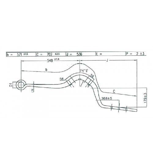 полурессора 26610300 для полуприцепа SCHMITZ CARGOBULL