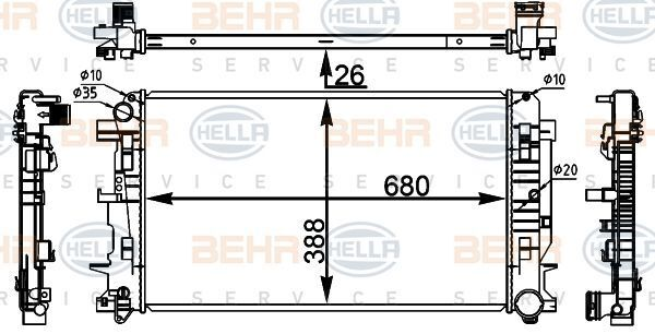 новый радиатор охлаждения двигателя BEHR (8MK376782-054) для грузовика