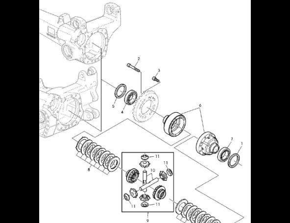 ремкомплект JOHN DEERE Zestaw tarczy AL160176 для трактора JOHN DEERE 7530 Premium