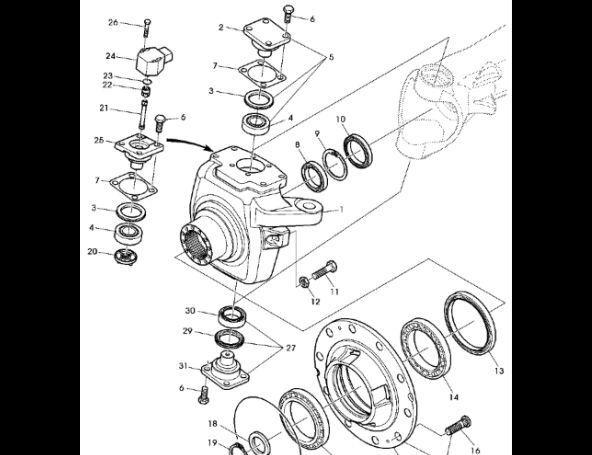 ремкомплект Zestaw podkładek reg. AL160138 для трактора JOHN DEERE 7530 Premium
